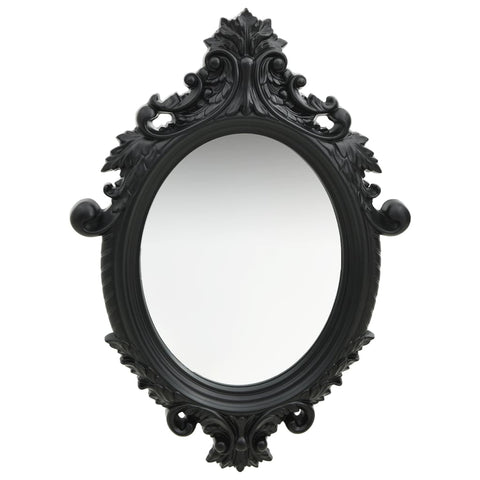 Wall Mirror Castle Style 56x76 cm Black