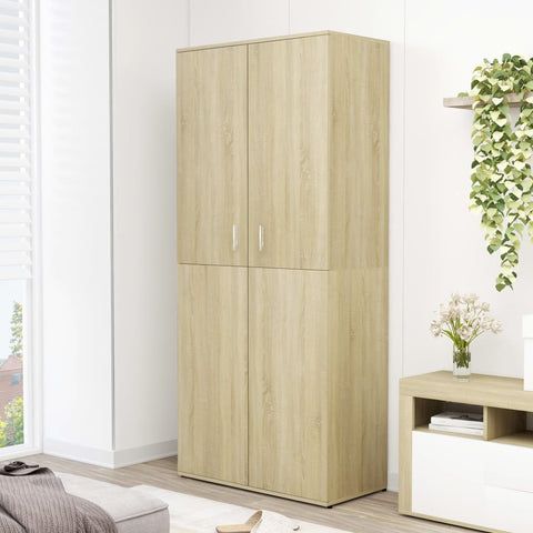 Shoe Cabinet Sonoma Oak 80x39x178 cm Chipboard