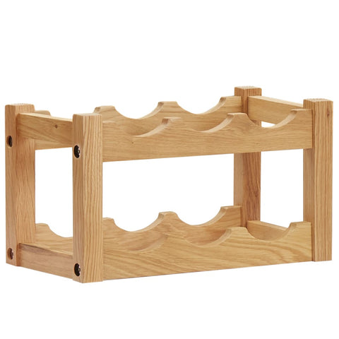 Wine Rack for 6 Bottles 37x21x21 cm Solid Oak Wood