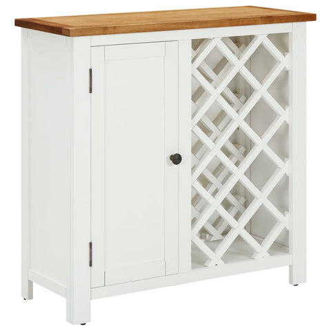 Wine Cabinet 80x32x80 cm Solid Oak Wood