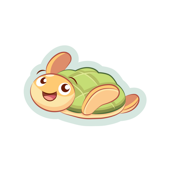 A Japanese melon pan turtle cartoon sticker