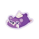 A baby near Filipino ube roll cartoon sticker