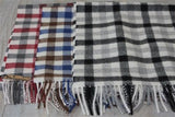 Plaid Baby Alpaca Scarves