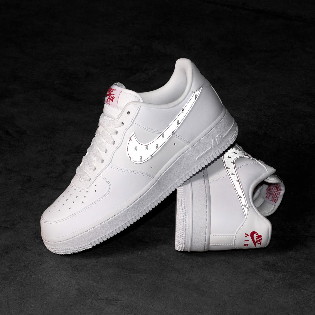 Nike x 3M Air Force 1 '07 (White / Silver / Anthracite ...