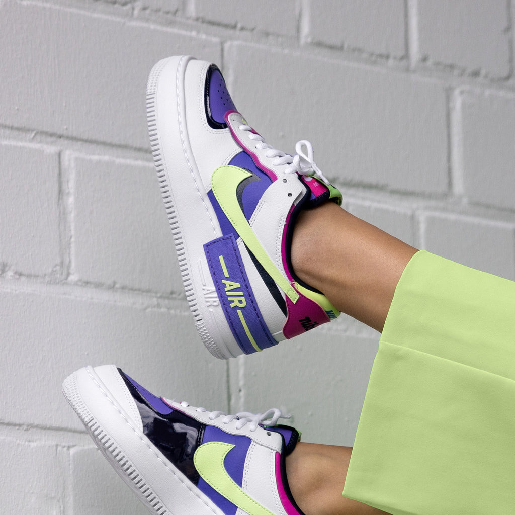 Nike Wmns Air Force 1 Shadow *Sapphire* (White / Barely Volt ...