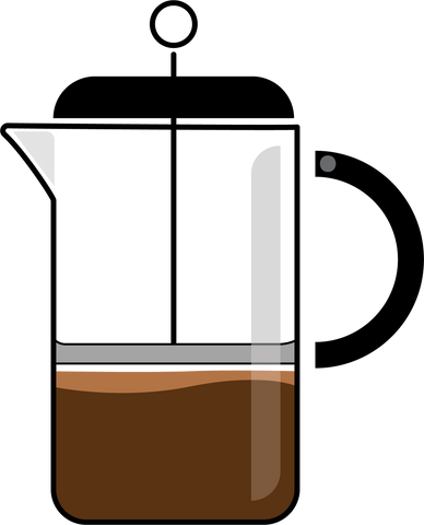 French Press illustration drawing