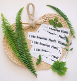 I Like Hawaiian Plants Sticker