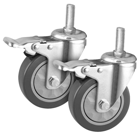 "2 x 4"" Heavy Duty Polyurethane Swivel Castor Brake Wheels"