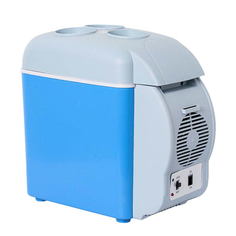 7.5L Car Small Refrigerator Cooler Box 12V Mini Fridge Cooler Warmer Blue Color