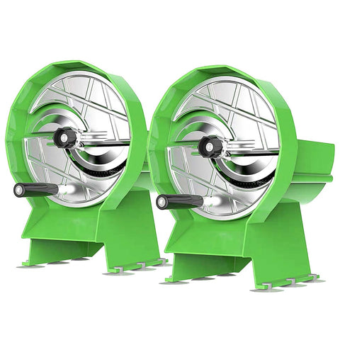 2X Commercial Manual Vegetable Fruit Slicer Kitchen Cutter Machine Green