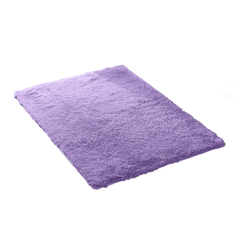 Designer Soft Shag Shaggy Floor Confetti Rug Carpet Home Decor 120x160cm Purple
