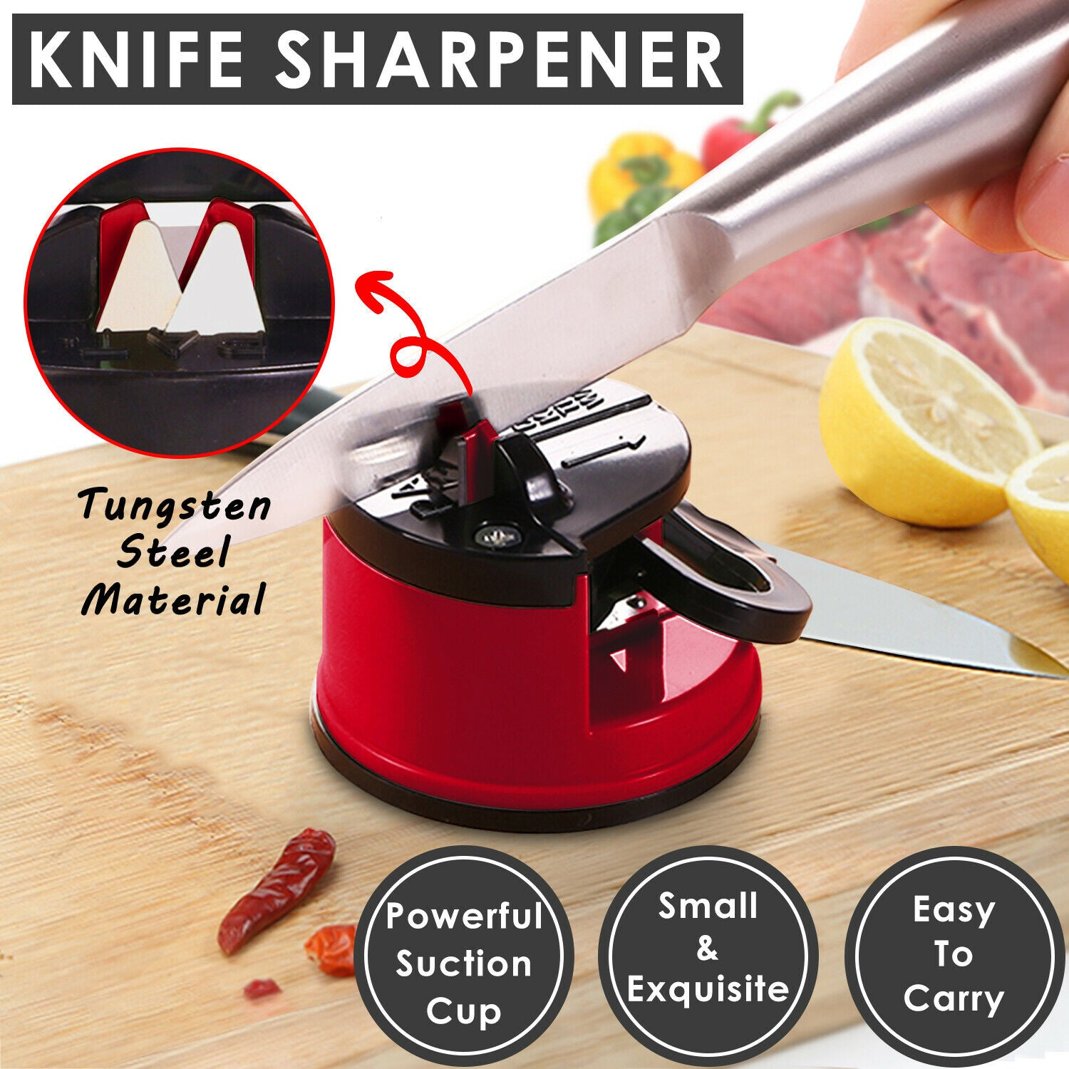 2Pcs Kitchen Sharpner Knife Sharpener Sharp Diamond For Knives Blades Scissors Tools