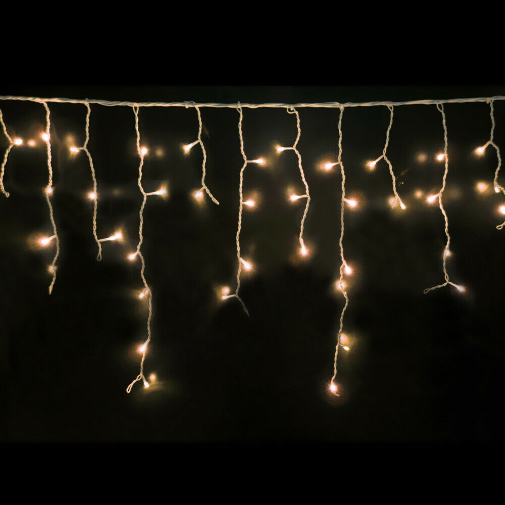 500 LED Curtain Fairy String Lights Wedding Outdoor Xmas Party Lights Warm White