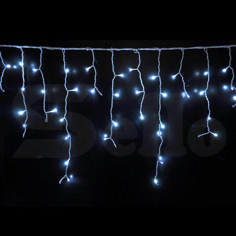 500 LED Curtain Fairy String Lights Wedding Outdoor Xmas Party Lights Cool White