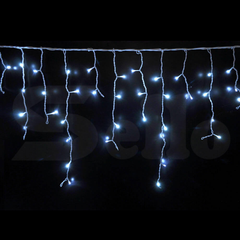 800 LED Curtain Fairy String Lights Wedding Outdoor Xmas Party Lights Cool White