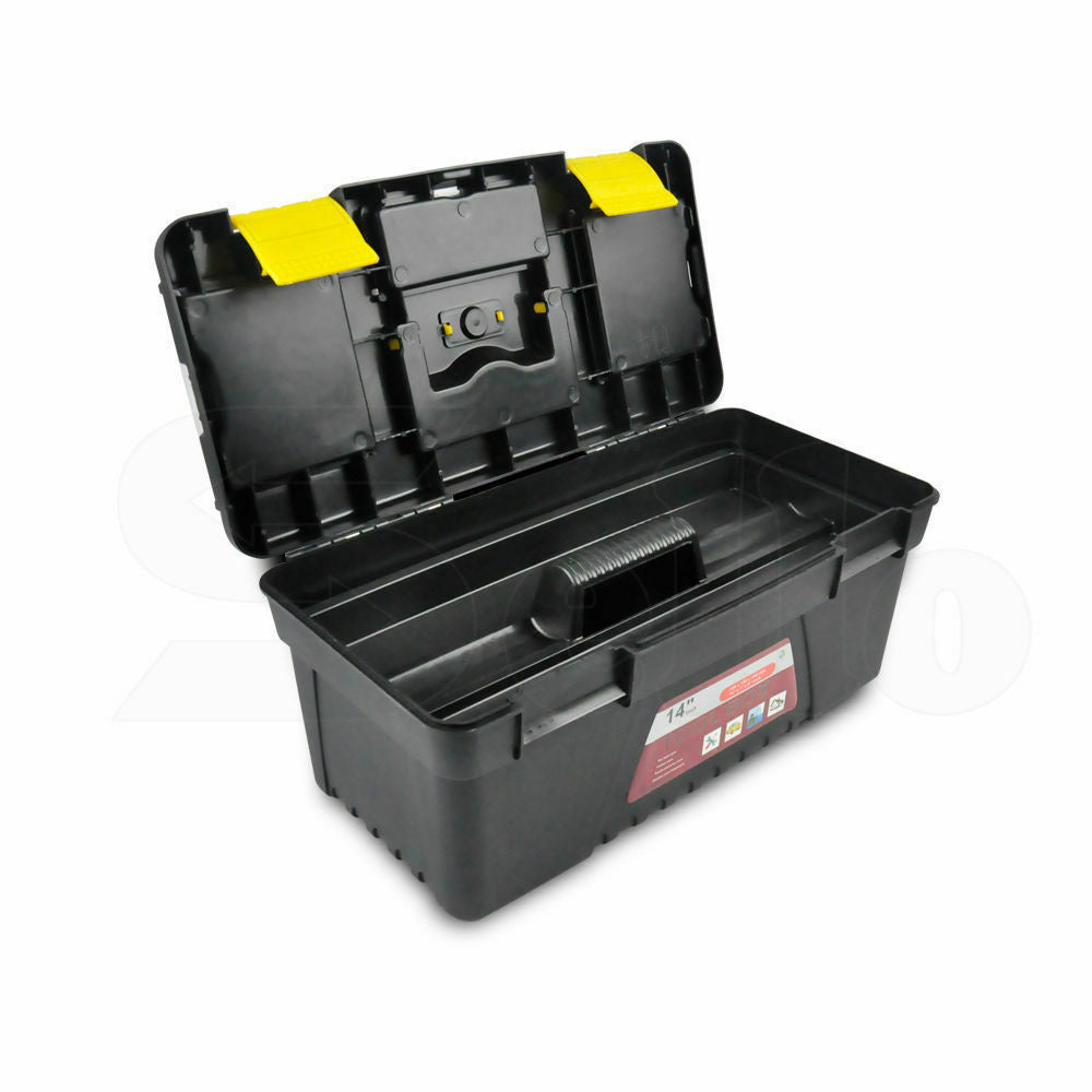 3 Piece Tool Boxes Set Organiser Trays Chest DIY Garage Toolbox Case Storage Bag