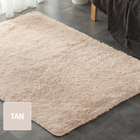 Designer Soft Shag Shaggy Floor Confetti Rug Carpet Home Decor 120x160cm Tan