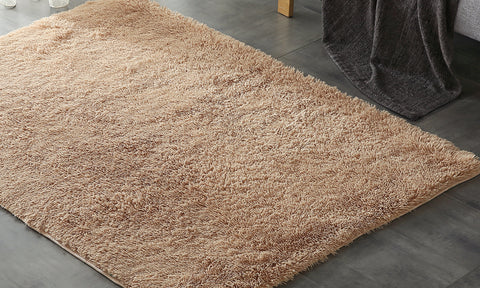 Designer Soft Shag Shaggy Floor Confetti Rug Carpet Home Decor 80x120cmTan