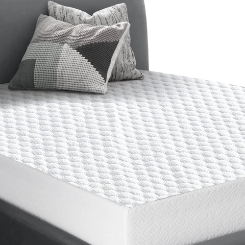 DreamZ Mattress Protector Topper Polyester Cool Fitted Cover Waterproof Double