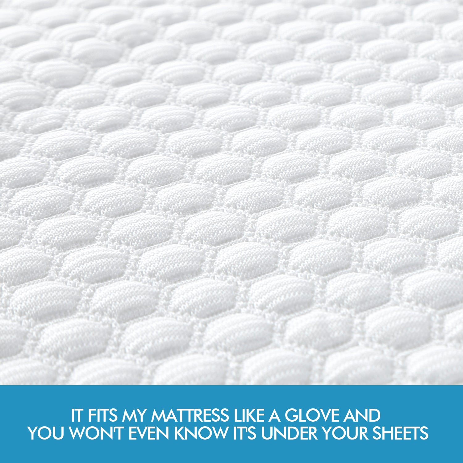 DreamZ Mattress Protector Topper Polyester Cool Fitted Cover Waterproof King