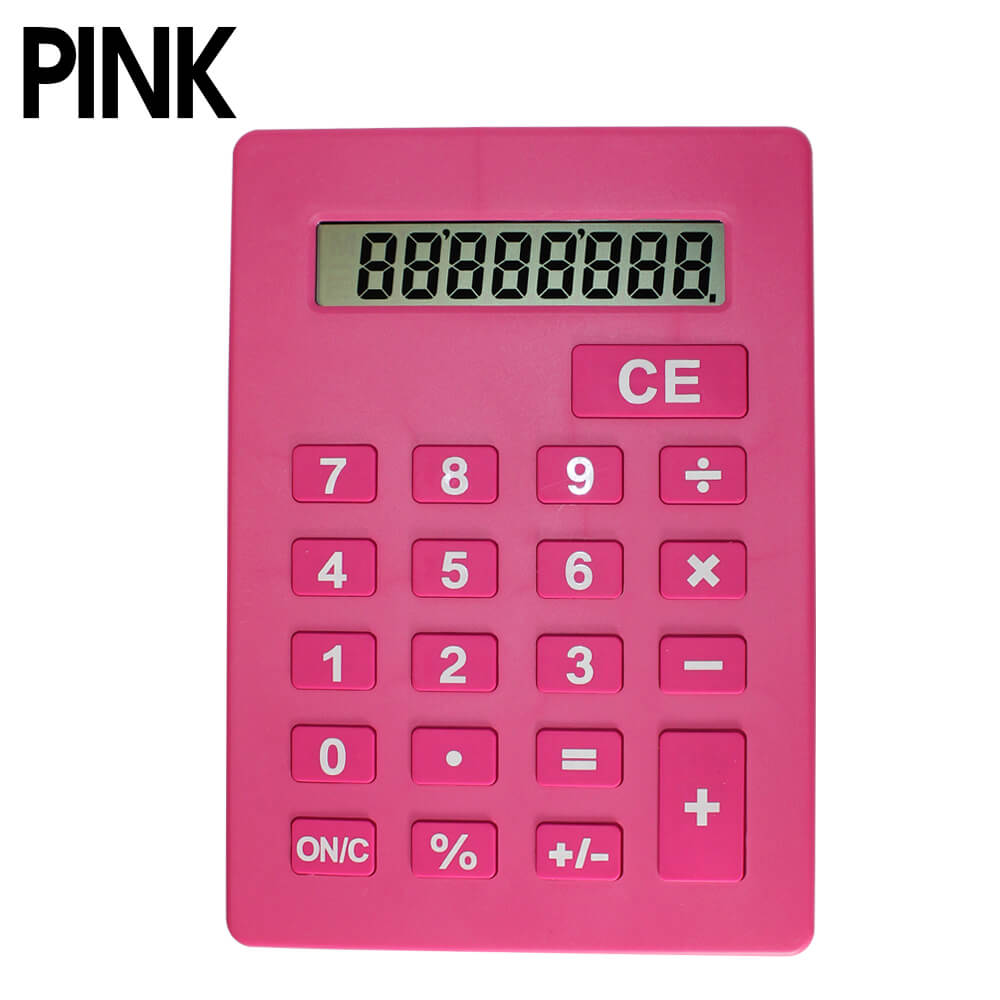 Jumbo Calculator Large Size Display Home Office Desktop Big Buttons Pink