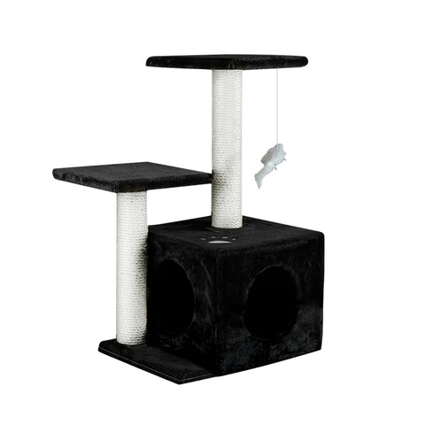 PaWz Cat Scratching Post Tree 0.6M Gym Home Condo Furniture Scratcher Pole Black