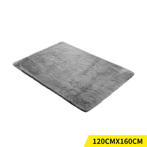 Designer Soft Shag Shaggy Floor Confetti Rug Carpet Home Decor 120x160cm Grey