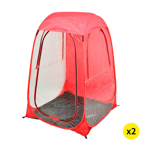 2x Mountview Pop Up Tent Camping Weather Tents Outdoor Portable Shelter Shade
