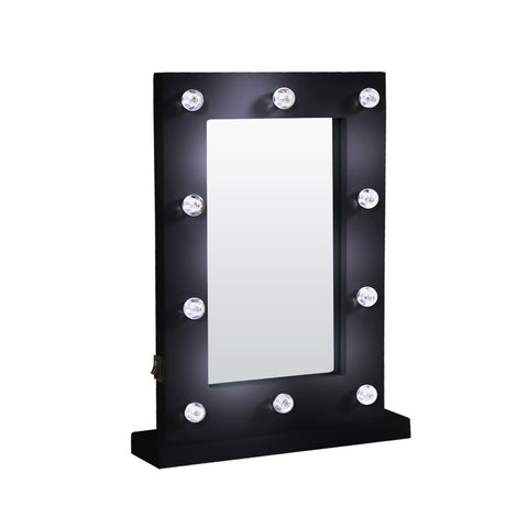 Hollywood LED Vanity Mirror Light Kit for Makeup Dressing Table Black