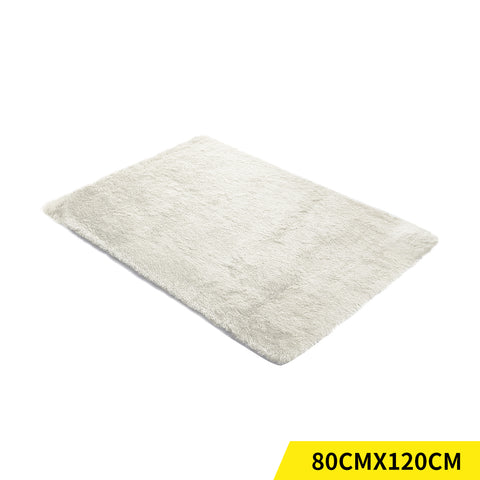 Designer Soft Shag Shaggy Floor Confetti Rug Carpet Home Decor 80x120cm Cream