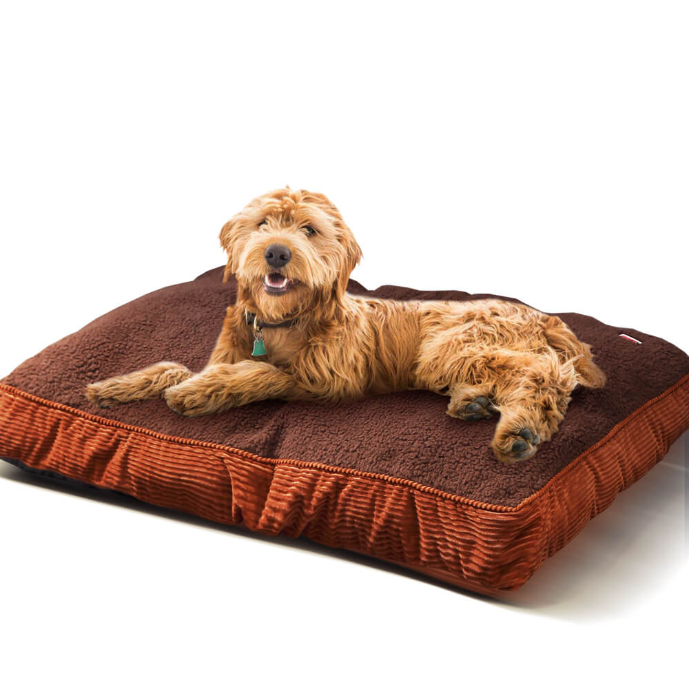 PaWz Pet Bed Mattress Dog Cat Pad Mat Puppy Cushion Soft Warm Washable XL Brown