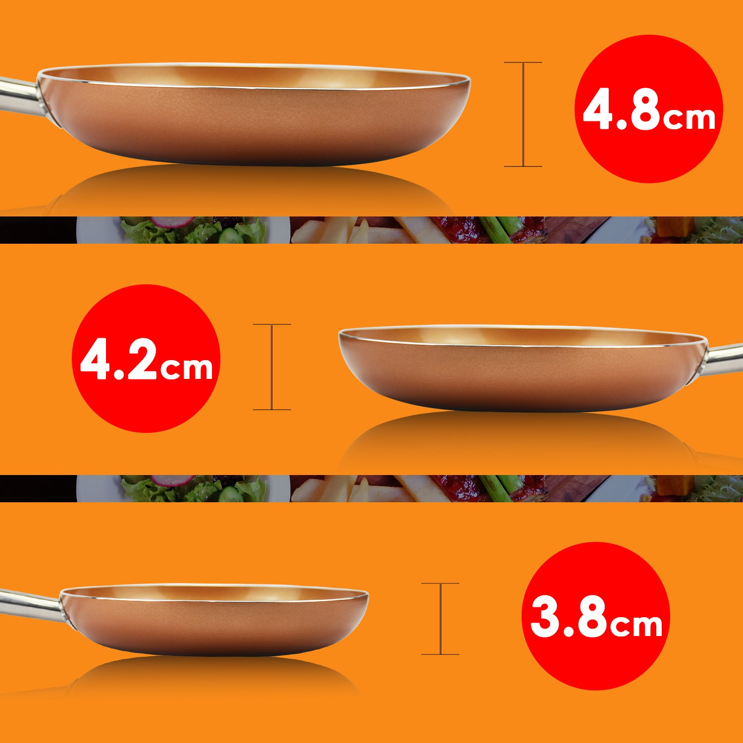 Frypan Frying Pan Non Stick Stainless Steel Fry Pans Kitchen Cookware 28.2CM
