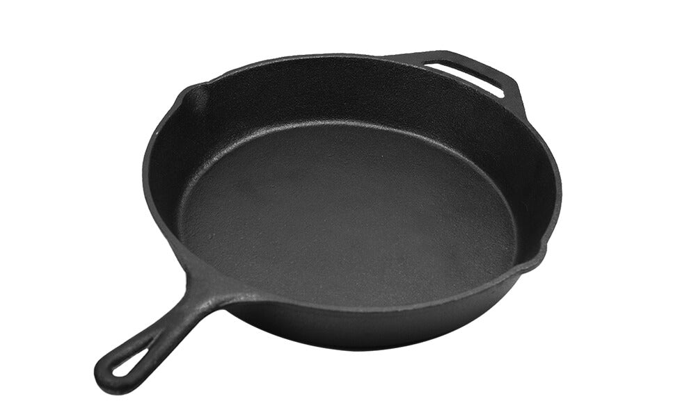 30cm Cast Iron Skillet / Fry Pan 12 Inch Pre Seasoned Oven Safe Cooktop & BBQ