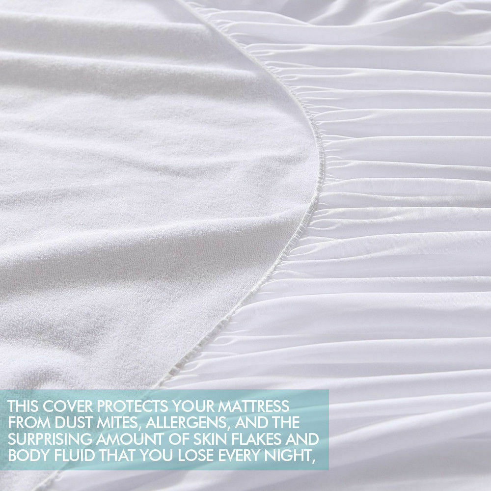 DreamZ Fitted Waterproof Mattress Protector with Bamboo Fibre Cover King Size