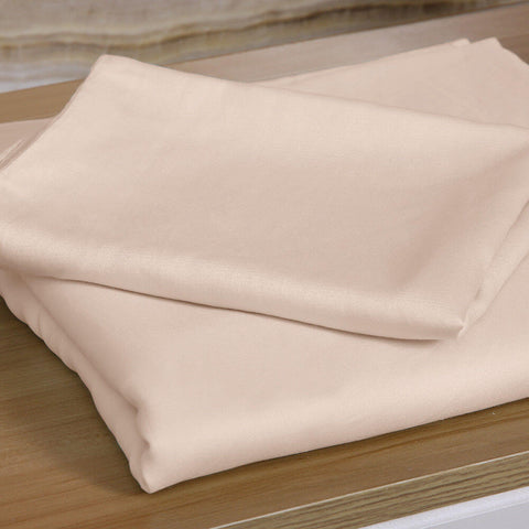 DreamZ 4 Pcs Natural Bamboo Cotton Bed Sheet Set in Size King Ivory