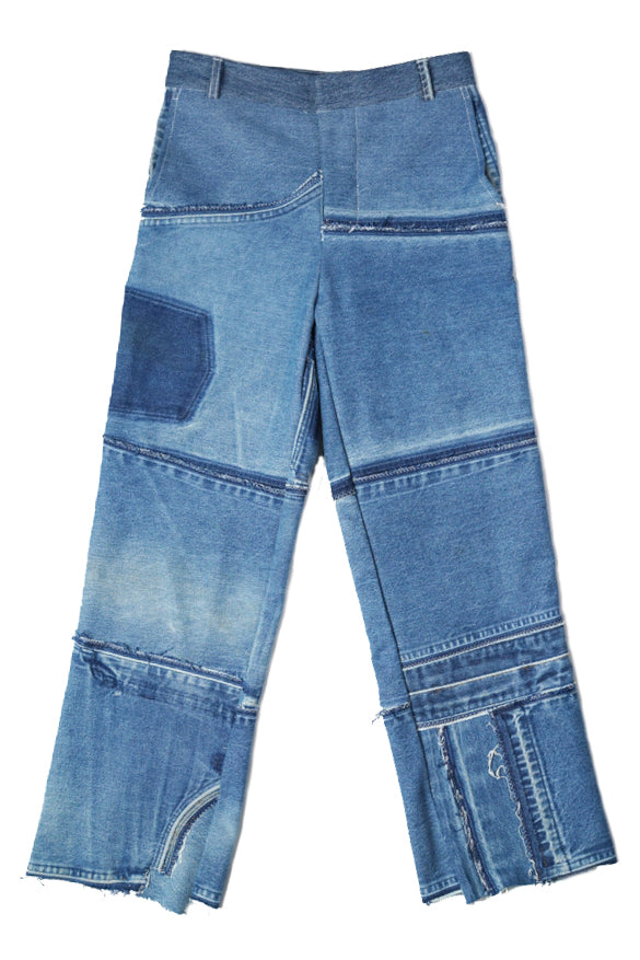 Two Deconstructed Jeans High Waisted