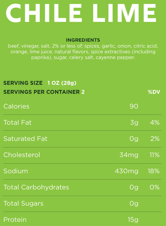 chile lime nutrition facts