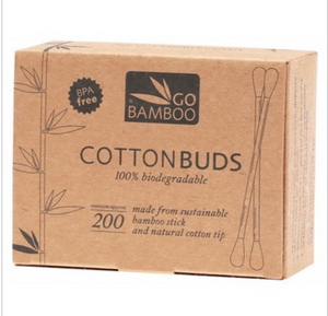 BAMBOO Cotton Buds 100% Biodegradable - 200(BPAフリー竹製綿棒)