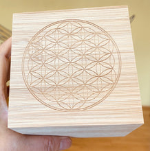 Load image into Gallery viewer, フラワー オブ ライフ バンブーボックス Flower of life, Bamboo box