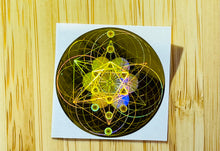Load image into Gallery viewer, Harmonise Electromagnetic Fields sticker with Sacred Geometric Code 電磁波防止用神聖幾何学コードのホログラムシールドスティッカー