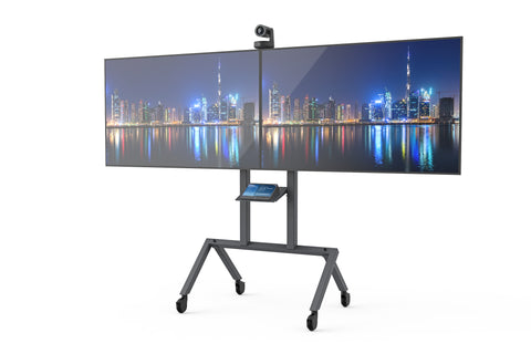 The Heckler AV Cart Prime can be customised to include 2 displays for easy collaboration