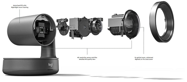 Logitech Rally camera exploded component diagram