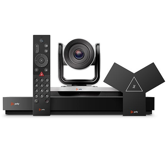 Poly G7500 & TC8 Video Conferencing System with microphone, speaker, conference camera and meeting room remote controller
