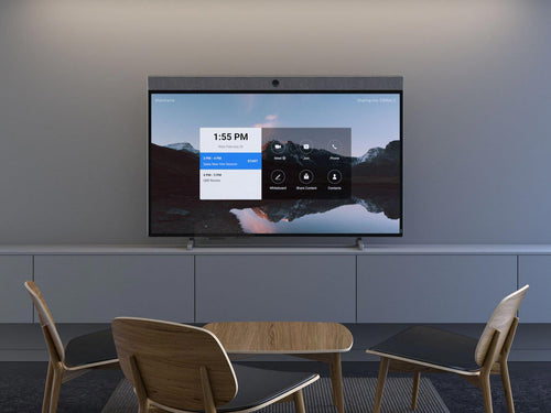 zoom rooms neatboard interactive digital whiteboarding with video soundbar built-in in a modern office