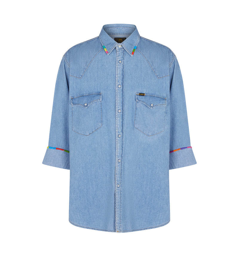 LIFE IN COLOURS- Oversized Denim Shirt