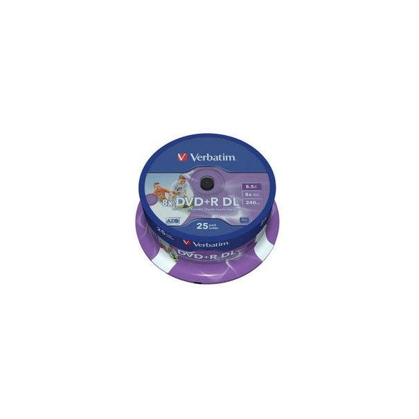 DVD ROH+R 8.5GB/ 8x DL print. Verb.(25er)