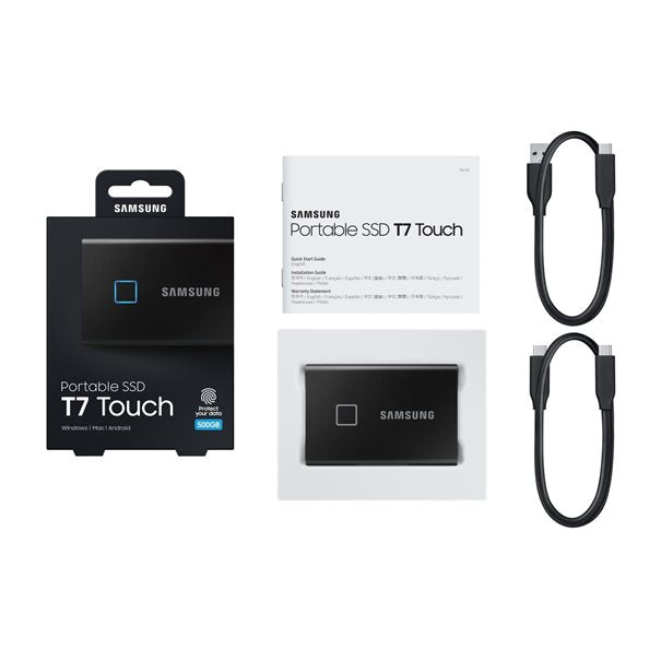 Samsung SSDex Portable T7 Touch Series 500GB Black USB 3.2 (Gen2) Metallic Black