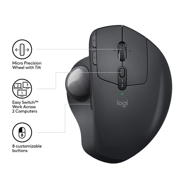 Logitech Trackball MX ERGO Wireless  20° Vertikal