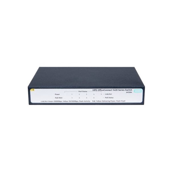 HP Switch 1420-5G PoE+ Switch JH328A