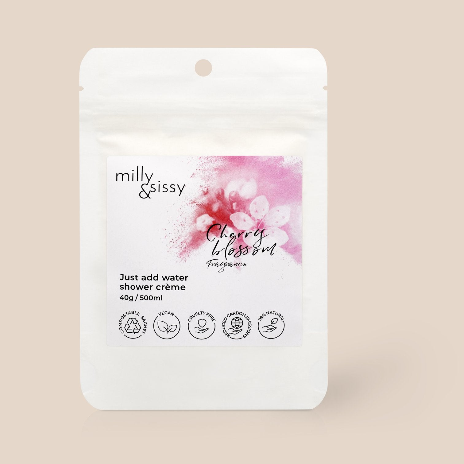 Just Add Water Refill Sachet - Shower Creme (Cherry Blossom)